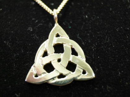 Trinity knot pendant.